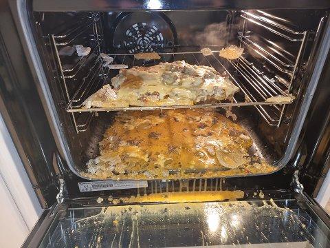 SMELL: Håvard Sæther og samboeren måtte erkjenne at det ikke ble noe lasagnemiddag denne kvelden.