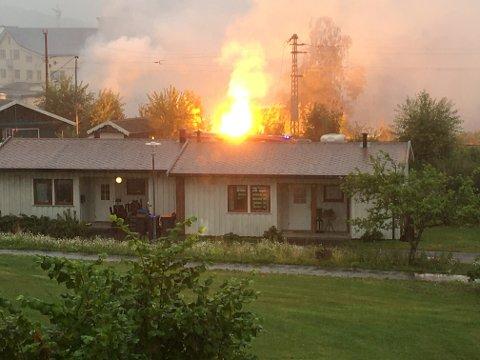 OMFATTENDE SKADER: Det er usikkert hva som startet brannene tirsdag.