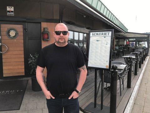 AVVIST: Glenn Karlsen sier at han ikke fikk betale middagen med kontanter.