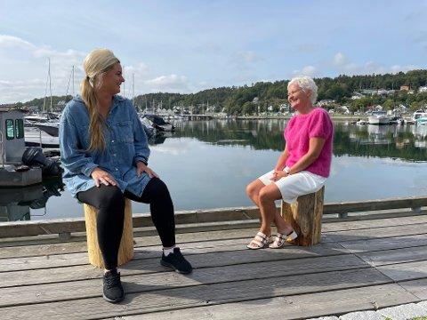 LUNSJUTSIKT: Dette kan være utsikten i lunsjen til de som jobber i Sandefjord fra et kontorhotell, som Camilla Bilstad Johannessen (V) og Anne Strømøy (H) håper vil lokke flere arbeidstakere til Sandefjord.