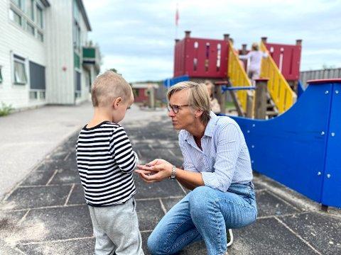 Styreleder Heidi Fevang Davidsen skal ønske 35 ettåringer velkommen til Espira barnehage på Åbol neste uke.