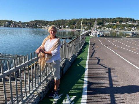 KYSTSTI: Inger Line Birkeland er prosjektleder for Rekreasjon og tilgjengelighet i indre Sandefjordsfjord. Hun håper flest mulig vil bidra med innspill.