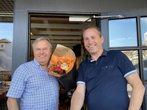 SLUTTER: Etter 31 år som kolleger hos Aagaards frisør'n skal Roar Rolstad (f.v.) fortsette uten Espen, som bytter bransje.