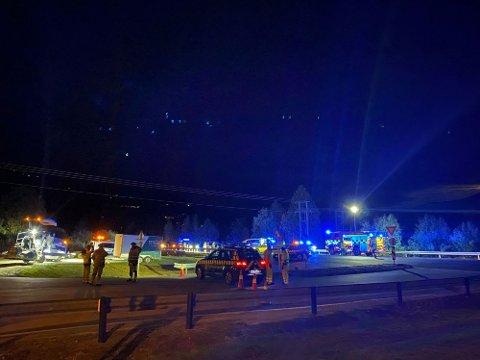 TRAGISK HENDELSE: Mannen ble påkjørt mens han dirigerte trafikk i forbindelse med veiarbeid.