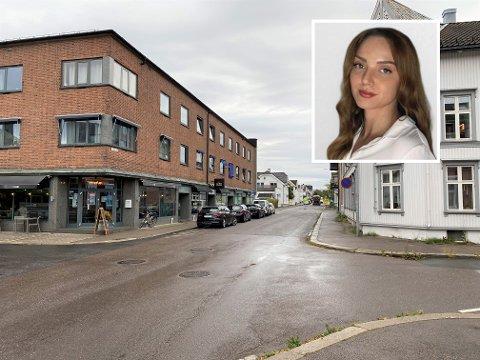 INNHENTET: Zara Marlene Johnsen var på vei ned St. Olavs gate i Tønsberg da hun ble innhentet av en mann onsdag morgen.