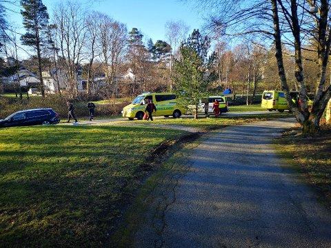 Arkivbilde fra ulykken i Sandvedparken.