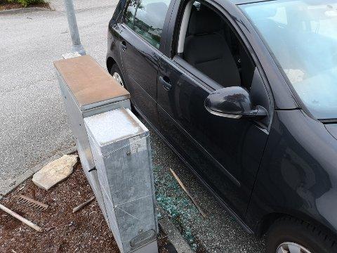 HÆRVERK: En bil fikk ruten knust på Lura i løpet av natten. Politiet tror flere biler i området har blitt utsatt for hærverk og ber bileiere ta en sjekk på sin bil. En person er pågrepet etter ugjerningen.