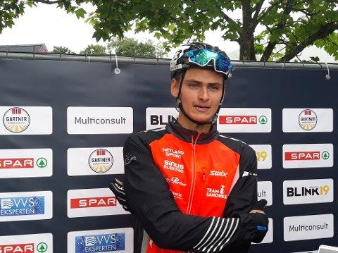 VINNER: Eirik Idland vant kvalifiseringen, og er klar for finalen i skiskyting lørdag i klassen M19.