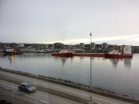 Slik ser det ut i Gandsfjorden fredag.