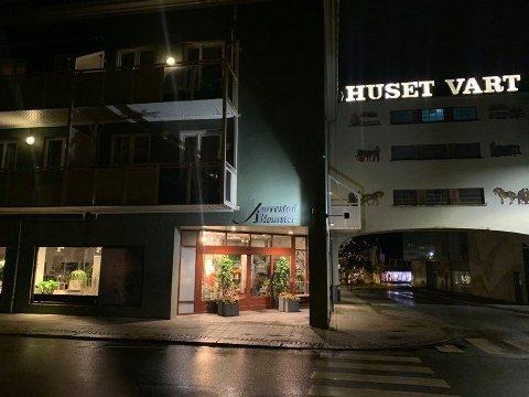 Butikkens fasade har ingen synlige skader etter innbruddet i natt.