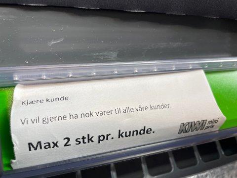 Slik har det sett ut hos flere butikker i Sandnes.
