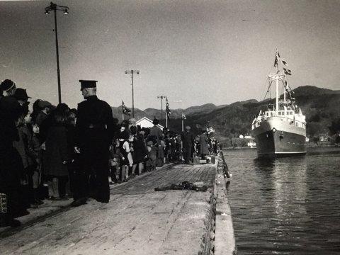 STASELIG: Slik så det ut da MS Sandnes kom til Sandnes fra Oslo for første gang i 1950.