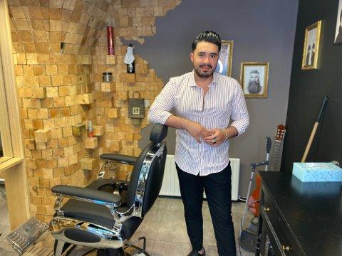 Ivan Shekhy eier og driver Ivan barber shop. Han gleder seg til å utvide med enda en salong på Kvadrat.