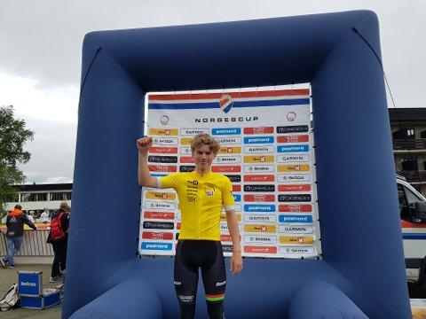 SEIER: Per Strand Hagenes (17) fra Sandnes sykleklubb er norgesmester i juniorklassen i landevei og tempo .