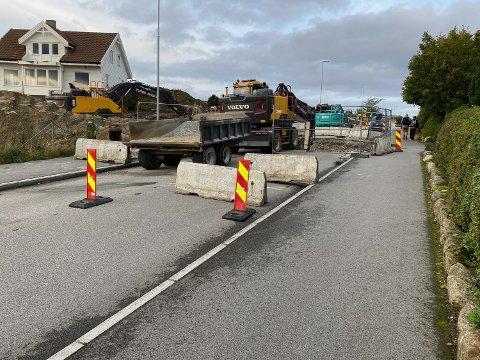 Folkvordveien på Stangeland er midlertidig stengt.