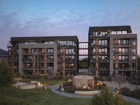 17 av 33 leiligheter er nå solgt i boligprosjektet Ganddal Park og de håper på byggestart i løpet av våren.