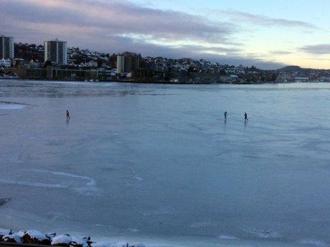 De tre personene på Gandsfjorden ble observert av bekymrede beboere på land.