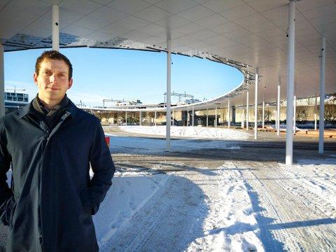 Arne Jørgensen er glad for at byparken på Ruten åpnes for publikum.