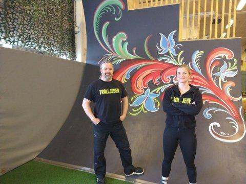 Paal Refsland som er gründer i Trolljeger AS sier at de jobber med et konsept som skal bidra til mer fysisk aktivitet. Rose Refsland er hovedtrener i bedriften.