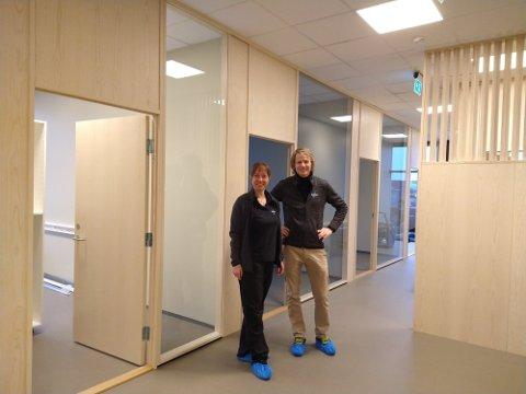 Wenche Leversen og Sigbjørn Hjorthaug gleder seg stort til å åpne i nye lokaler etter påsken.