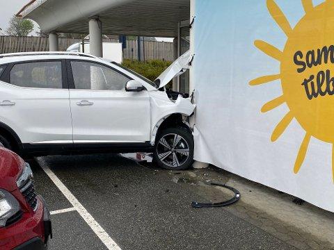Ulykker med paersonbil inne på industriområder er uvanlige.