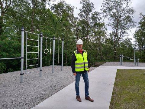 Ole Morten Løge er glad for at treningsparken nå er klar for bruk.