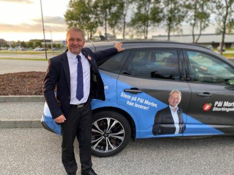 FORUS: Frp holder valgvake på grensen mellom Stavanger og Sandnes på Forus i kveld. Pål Morten Borgli er naturlig nok spent på hva kvelden vil bringe.
