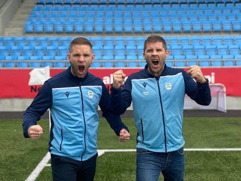 Vetle Høivik og Øystein Elvestad jubler over billettsalget og den kommende kampen mot Bryne.