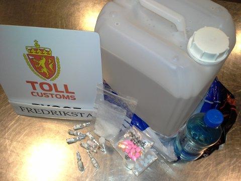 Tollerne beslagla store mengder GBL fra mannen som tok toget fra Göteborg 1. desember.