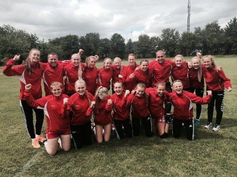 FBK-jentene kunne juble for seier i sin første kamp i Aalborg.