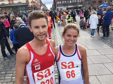 RASKE: Andreas Myhre Furseth og Stine Wangberg løp inn til seirer. Foto: Jarl M. Andersen
