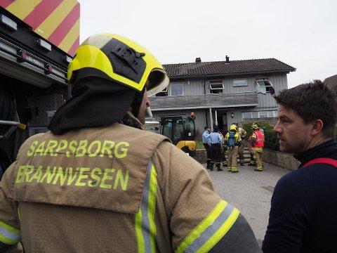 Alle nødetatene rykket ut da det ble meldt om branntilløp i et bolighus på Hannestadfjellet.