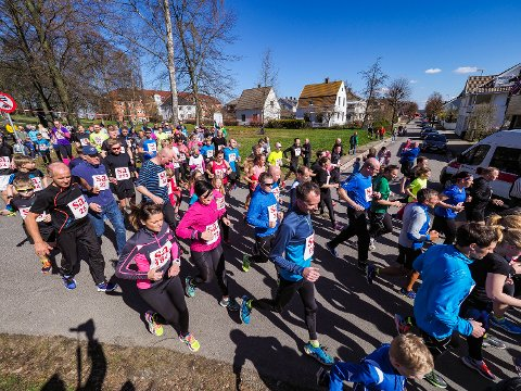 Starten for 5km SA-løpet i 2017.