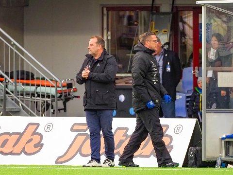 MOT KIL: Sarpsborg 08 og trenerne Geir Bakke og Tom Freddy Aune stilles mot Kongsvinger i tredje runde av cupen.