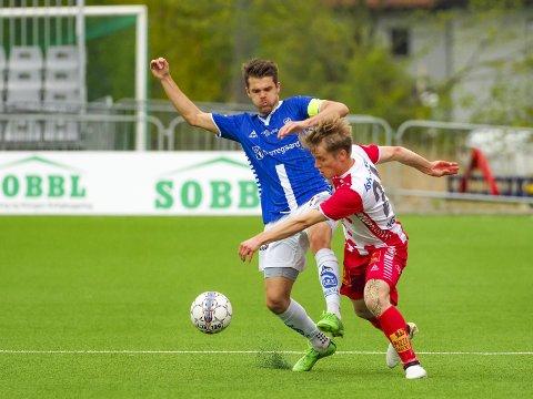 Ikke fornøyd: Sarpsborg 08 kaptein Joachim Thomassen var ikke fornøyd med kampen mot Tromsø. Foto: Thomas Andersen