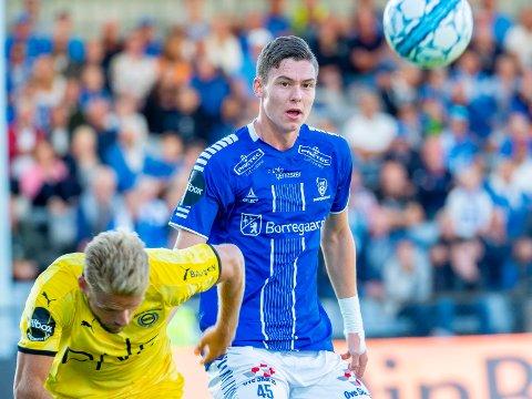 MATCHVINNER: Jørgen Strand Larsen ble matchvinner for Norge i G18-landskampen mot Kina.