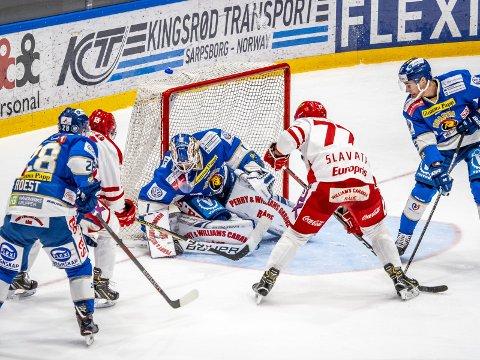 Holdt nullen: Spartas målvakt Jens Kristian Lillegrend holdet nullen mot Stjernen. Foto: Thomas Andersen