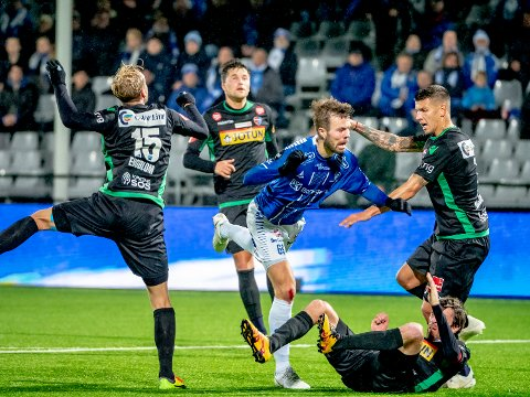 SESONGSTART: Patrick Mortensen og Sarpsborg 08 møter Molde i seriepremieren neste sesong.