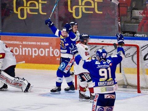 Niklas Roest scoret Spartas første mål i kampen mot Lillehammer. (Foto: Thomas Andersen)