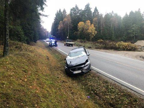 To biler er involvert i en ulykke på Vetatoppen onsdag morgen.