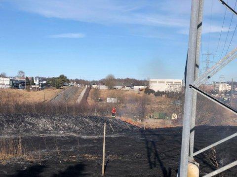 Brannvesenet fikk raskt kontroll på stedet som hadde tatt fyr.