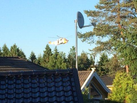 SeaKing redningshelikopter ble satt inn i søket torsdag kveld.