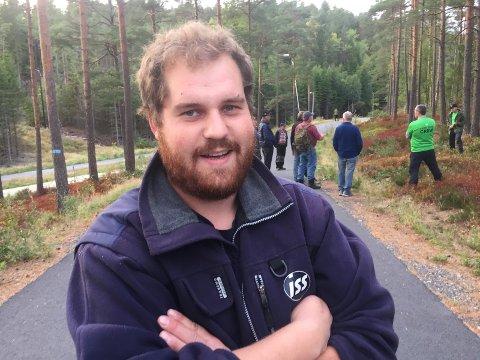 FORNØYD: Skogeier Hans Martin Flekkum (30) var fornøyd med både det faglige og det sosiale utbyttet på fagdagen til Viken skog.