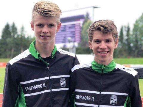 MEDALJER: Sindre Fredriksen (til venstre) og Sondre Rishøi tok medaljer på mellomdistanse.