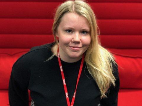 JOBBER I VG: Marie Golimo Kingsrød (25) startet sin karriere i Sarpsborg Arbeiderblad da hun gikk på ungdomsskolen. I dag jobber hun i VG.