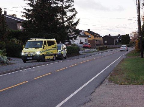 UHELL: Det var like ved Tjernsparken på Hafslundsøy ulykken skjedde tirsdag morgen.