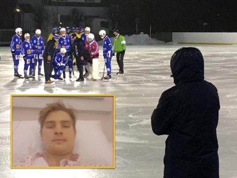 Det var under kamp mot Ullevål at SBKs Anton Olsson fikk seg en kraftig smell som endte med kjevebrudd på to stedet.