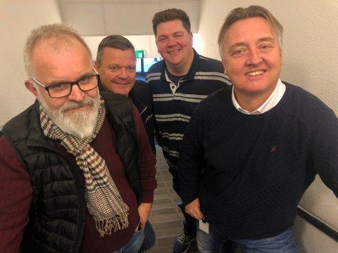 SA-PODDEN: : Øistein Veberg, Bjørn Inge «Bingen» Nilsen, Patrick Walther Larsen og Petter Kalnes i SA-podden