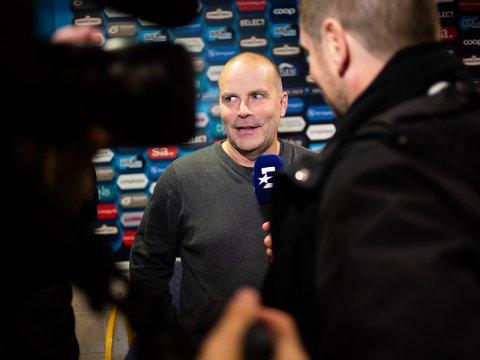GLAD:  Sarpsborg 08s trener Geir Bakke var naturligvis glad etter at Sarpsborg 08 tok det ene poenget mot Lillestrøm som var nødvendig.