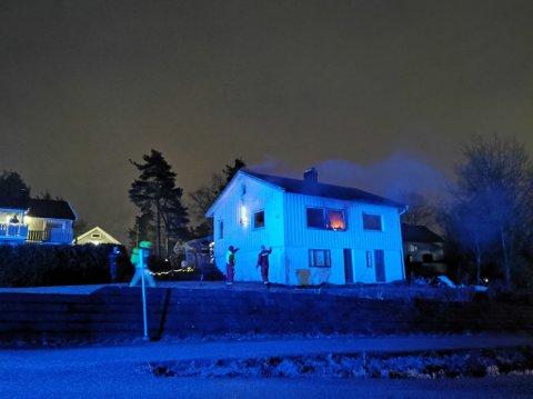 Brann i enebolig på Borgenhaugen julaften